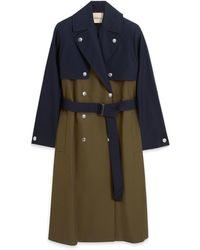 Mulberry Mae Trench Coat In Khaki Cavalry Twill - Multicolor