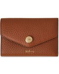 Mulberry Folded Multi-card Wallet In Chestnut Heavy Grain - Brown