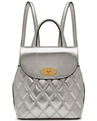 Mulberry - Mini Bayswater Backpack In Light Silver Quilted Smooth Calf - Lyst