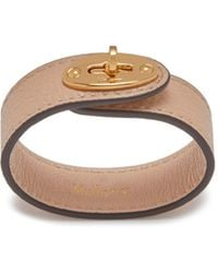 Mulberry - Bayswater Leather Bracelet In Rosewater Small Classic Grain - Lyst