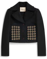 Mulberry Eloise Jacket In Black Wool Felt