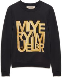 Mulberry Prudence Sweatshirt In Antique Gold And Black Alphabet Cotton Jersey