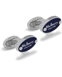 Mulberry - Oval Plaque Cufflink - Lyst