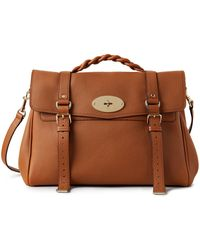 Mulberry Oversized Alexa In Chestnut Heavy Grain - Brown