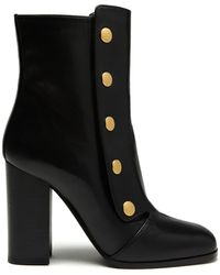 Mulberry Marylebone Bootie In Black Smooth Calf