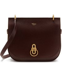 Mulberry Amberley Satchel In Oxblood Natural Grain Leather - Brown