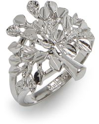 Mulberry Tree Ring In Silver Sterling Silver - Metallic