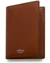 Mulberry - Card Wallet In Oak Natural Grain Leather - Lyst