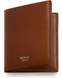 Mulberry - Trifold Wallet In Oak Natural Grain Leather - Lyst