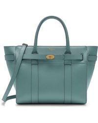 Mulberry - Small Zipped Bayswater In Antique Blue Cross Grain Leather - Lyst