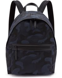 Mulberry - Zipped Backpack In Midnight And Black Camo Jacquard - Lyst