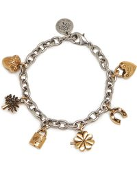 Mulberry Lucky Charm Bracelet In Gold And Silver Brass - Metallic