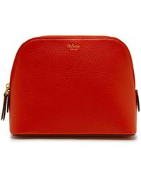 e513e0109df Mulberry Cheyne Crocodile-Embossed Wallet in Red - Lyst