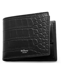 Mulberry 8 Card Coin Wallet In Black Bovine