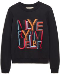 Mulberry Prudence Sweatshirt In Multicolour And Black Alphabet Cotton Jersey