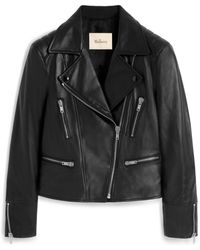 Mulberry Bethany Jacket In Black Nappa Leather