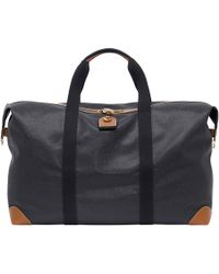 Mulberry - Large Clipper In Black And Cognac Scotchgrain - Lyst