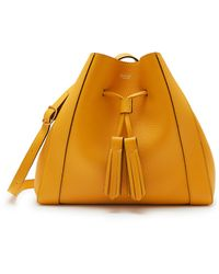 Mulberry Small Millie Tote In Deep Amber Heavy Grain - Multicolor