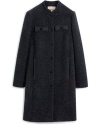 Mulberry Georgie Coat In Black Lurex Tweed