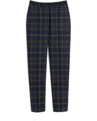 Mulberry Lucie Trousers In Green Tartan Wool