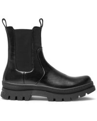 Mulberry Hoxton Chelsea Ranger Bootie In Black Smooth Calfskin