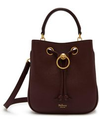 Mulberry - Small Hampstead In Burgundy Small Classic Grain - Lyst