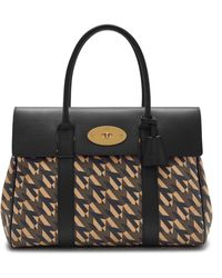 Mulberry Bayswater In Black M Jacquard