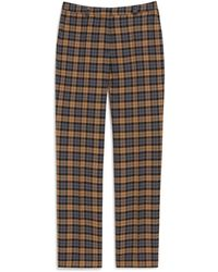 Mulberry Ashley Trousers In Autumn Gold Woven Wool Check - Multicolour