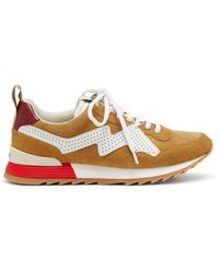 Mulberry My-1 Lace-up Sneaker In Camel Suede - Natural