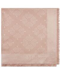Mulberry Tree Square In Rosewater Silk Cotton - Multicolour