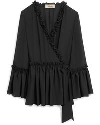 Mulberry Judy Blouse In Black Georgette