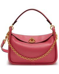 Mulberry - Small Leighton In Geranium Pink Small Classic Grain - Lyst
