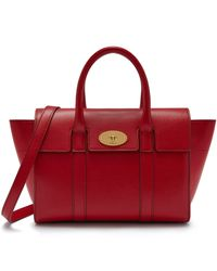 Mulberry Small Bayswater In Scarlet Small Classic Grain - Red