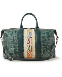 Mulberry Zipped Weekender In Multicolor Scotchgrain - Green