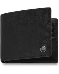 Mulberry 8 Card Coin Wallet Tree Plaque In Black Cross Grain Leather