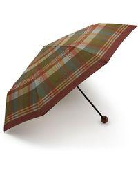 Mulberry - Telescopic Umbrella In Moss Heritage Check - Lyst