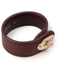 Mulberry Bayswater Leather Bracelet In Oxblood Small Classic Grain - Brown