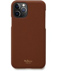Mulberry Iphone 11 Pro Cover In Oak Small Classic Grain - Brown