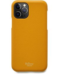 Mulberry Iphone 11 Pro Cover In Deep Amber Small Classic Grain - Multicolour