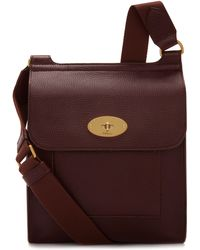 Mulberry Antony In Oxblood Natural Grain Leather - Multicolour