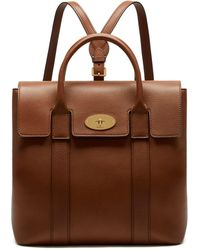 Mulberry - Bayswater Backpack In Oak Small Classic Grain - Lyst