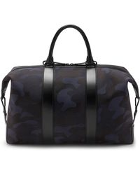 Mulberry - Small Weekender Tote In Midnight And Black Camo Jacquard - Lyst