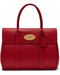 Mulberry - Bayswater In Scarlet Small Classic Grain - Lyst