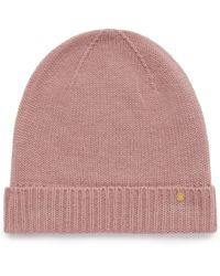 Mulberry Cashmere Hat In Antique Pink Cashmere
