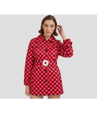 Mulberry - Becky Coat In Hibiscus Red Retro Weave - Lyst