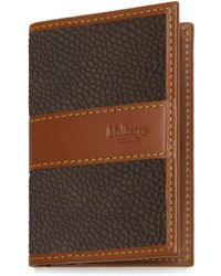 Mulberry - Card Case In Mole And Cognac Scotchgrain - Lyst