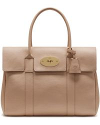 Mulberry - Heritage Bayswater In Rosewater Small Classic Grain - Lyst