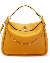 Mulberry - Leighton In Deep Amber Small Classic Grain - Lyst