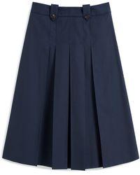 Mulberry Gia Skirt In Dark Navy Winter Canvas - Blue