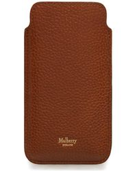 Mulberry - Iphone Plus Cover In Oak Natural Grain Leather - Lyst